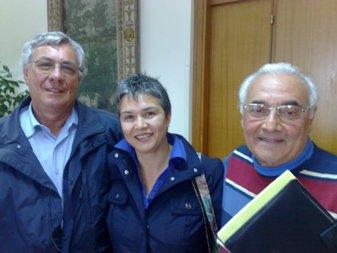 Franco Bertè, Antonella Starvaggi e Enzo Mottola del comitato C.a.s.t.a.