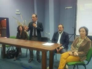 da sin. l'assessore lenese Pollicino, il sindaco di Lipari Giorgianni, l'esperto di P.C. La Greca e l'assessore De Luca