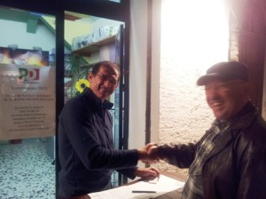 il prof. Donato con Coppolina