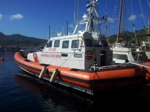 la motovedetta 322 tornata a Lipari