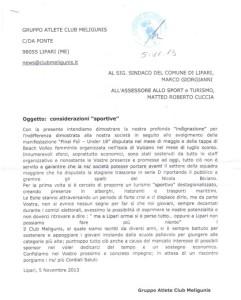 lettera meligunis