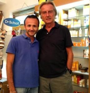 luca cordero di Montezemolo con il farmacista Sparacino