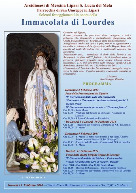 M SS Lourdes 2014