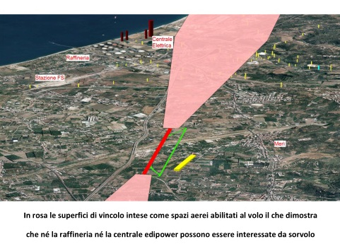 l'area interessata tra Barcellona e Milazzo