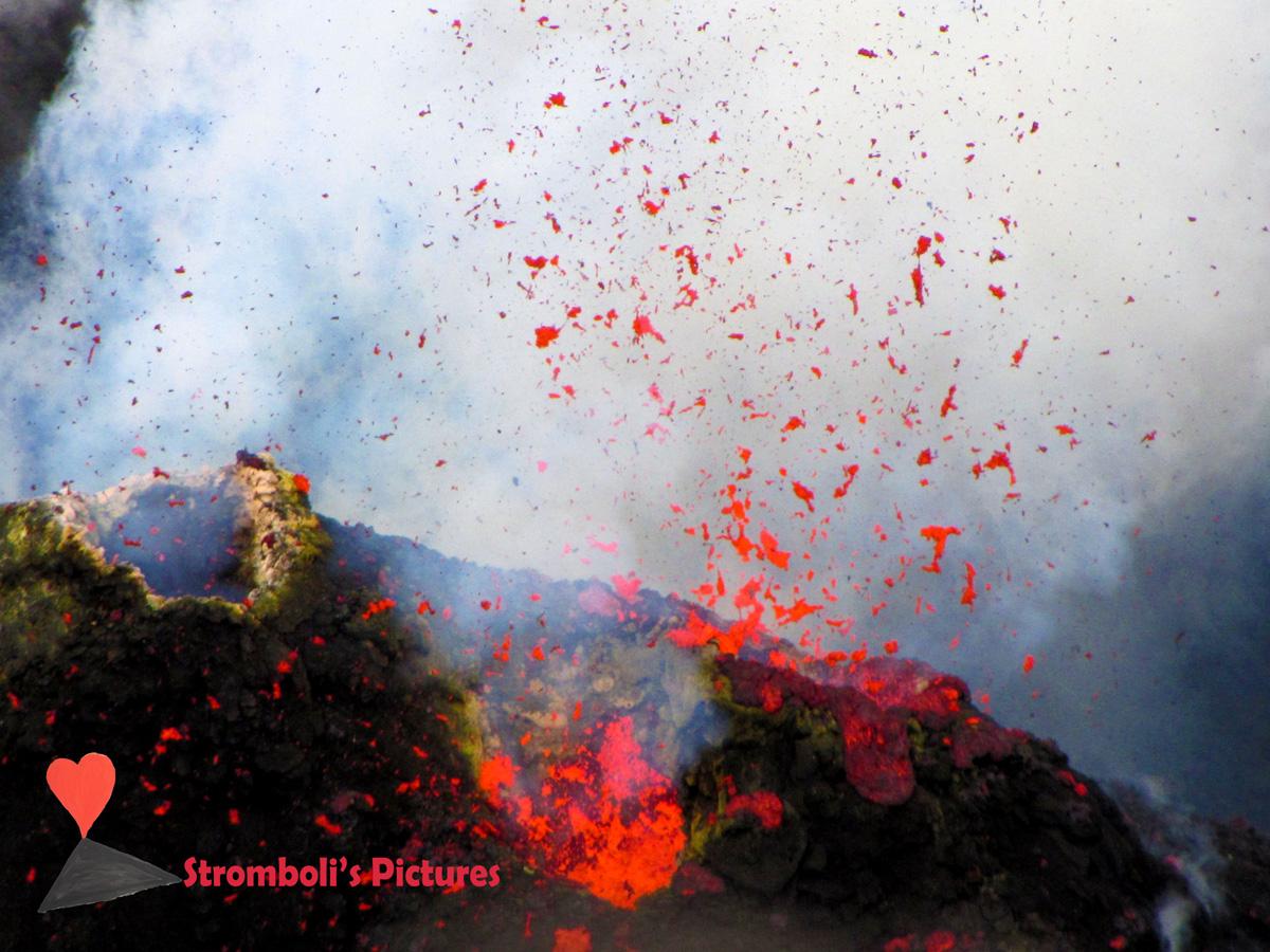 Il magma incandescente dello Stromboli