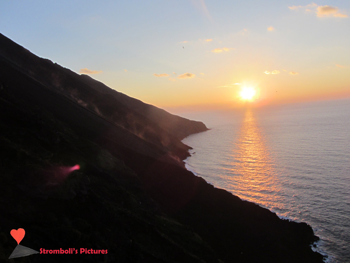 Magico tramonto alla Sciara