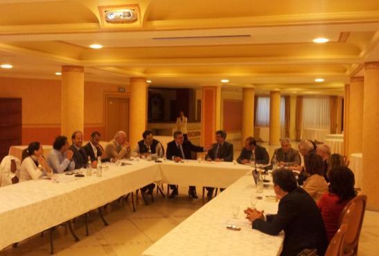 La riunione operativa all'hotel Tritone