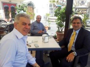 Il dirigente ministeriale Sabella con il vicesindaco Orto