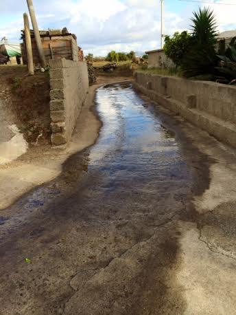 Una perdita idrica a Lipari
