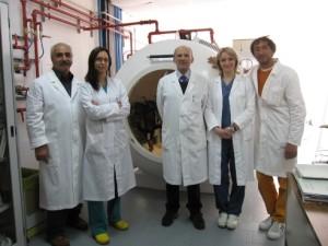 anestesisti e tecnici della camera iperbarica dell'ospedale di Lipari