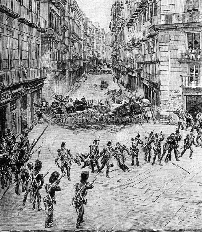 le barricate di Napoli del maggio 1848