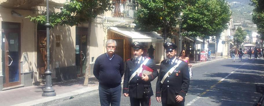 i Carabinieri al corso con l'assessore alla viabilità Giovanni Sardella