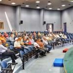 l'incontro con gli addetti ai lavori al Palacongressi di Lipari