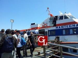 l'imbarco sul Mantegna