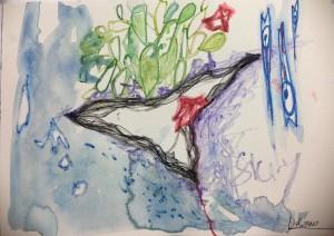 una delle tre opere in mostra di Loredana Salzano