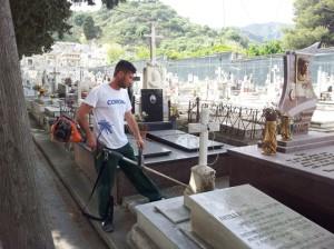 pulizia cimitero