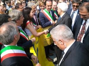 l'assessore Sidoti con il presidente Mattarella