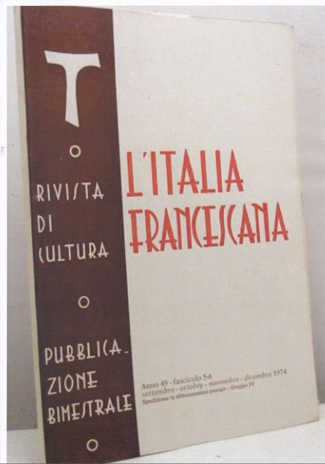l'italia francescana nov  dic 1974