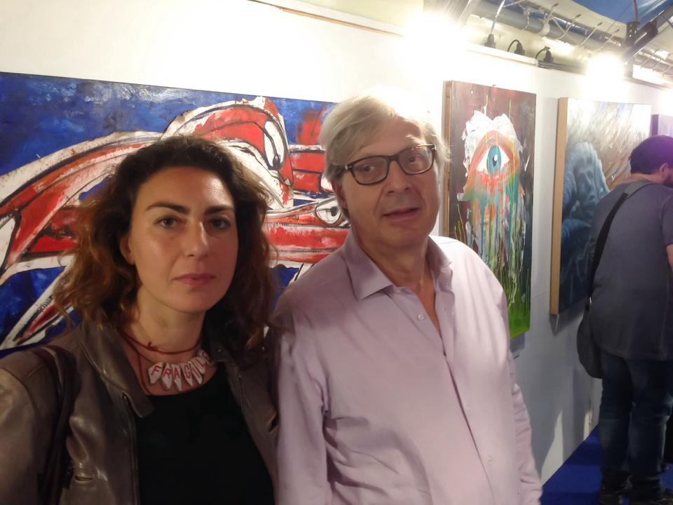 Loredana Salzano con Vittorio Sgarbi