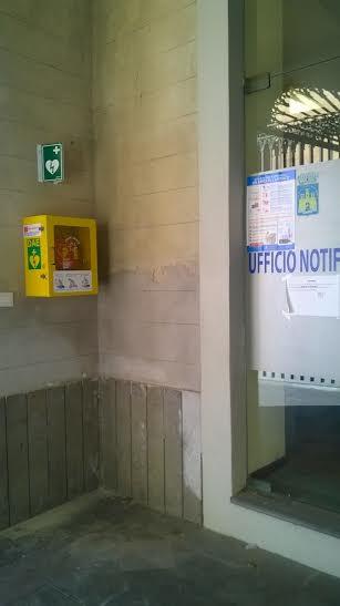 il defibrillatore al Comune di Lipari