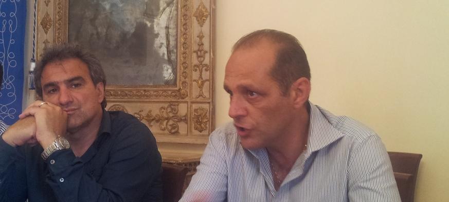 il sindaco Marco Giorgianni con il vicesindaco Gaetano Orto