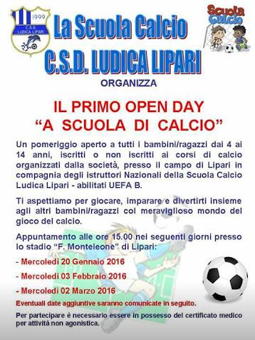 open day calcio