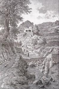 Il cosiddetto Vallone Collo, stradella che da Lipari giunge in contrada Pirrera