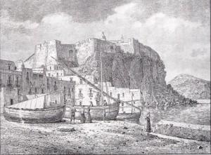 Veduta del castello di Lipari da Marina Corta