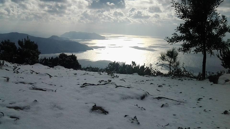 neve come ogni anno nella riserva di Salina ( foto E. Beninati)