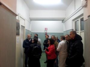 i consiglieri comunali nella recente visita in Ospedale