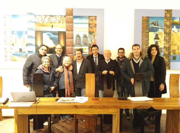 Il presidente Danilo Conti e il consiglio del Bio-Distretto
