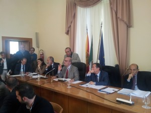 Il presidente della Commissione Digiacomo e i deputati