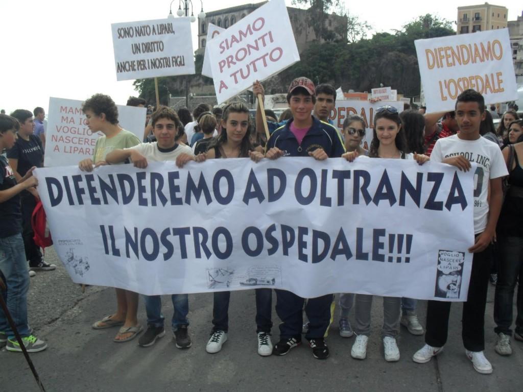 protesta ospedale