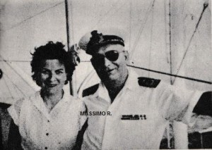 La giornalista Pinet con il comandante Bellitti