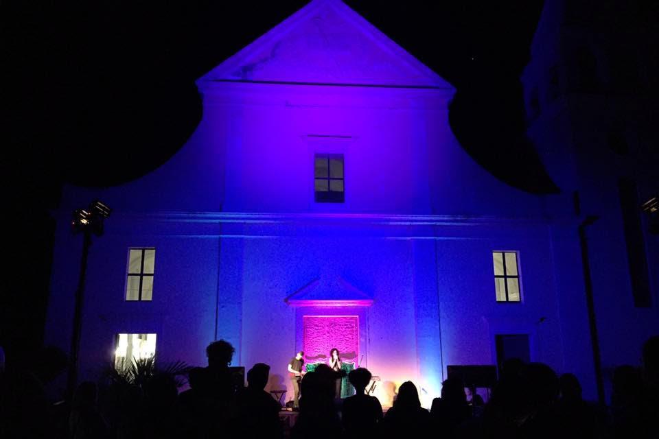 chiesa stromboli notte