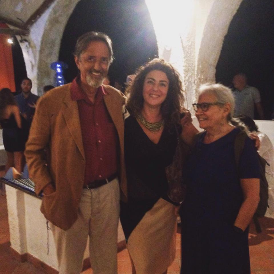 Loredana Salzano con Giovanni Gastel e Maria Vittoria Backhaus