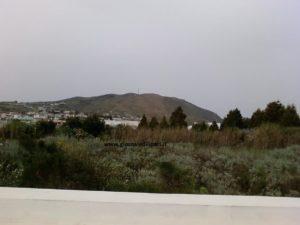 l'area dove sarà realizzato l'ampliamento del cimitero di Pianoconte