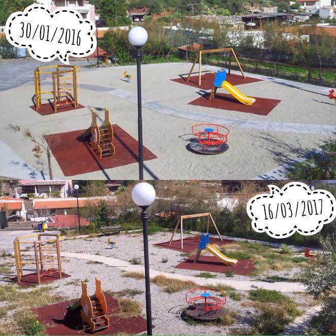 abbandono parco giochi