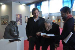 ...e con il critico d'arte Paolo Levi