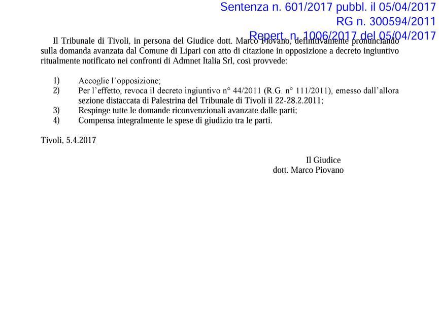sentenza adm net 4