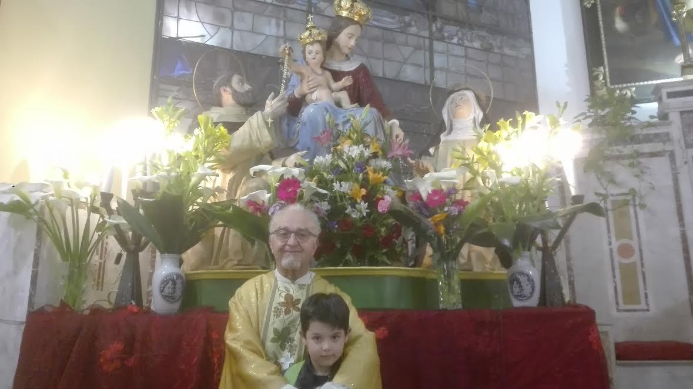 statua madonna del rosario