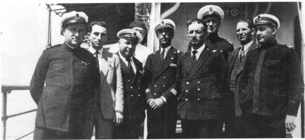 L'equipaggio del Santamarina