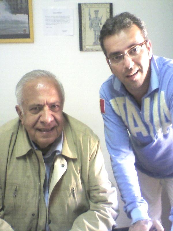 Alberto La Volpe in occasione di una visita di qualche anno fa a Teleisole con il nostro direttore Peppe Paino