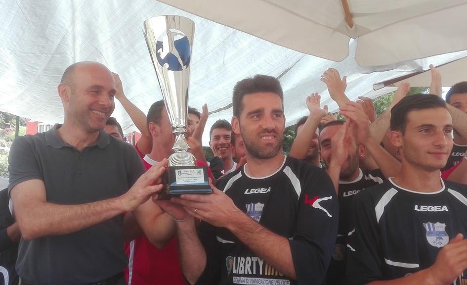 la coppa della lega per la vittoria del campionato di terza categoria