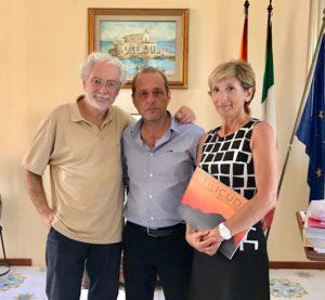 Zanetti con il sindaco Marco Giorgianni e l'assessore designato Ersilia Paino