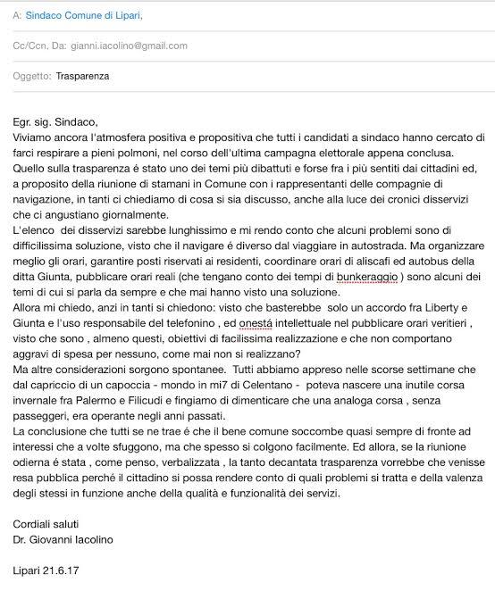 lettera iacolino