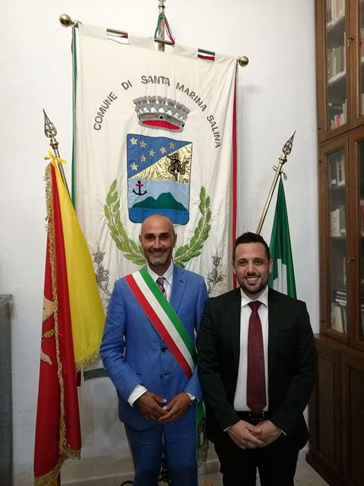 Il sindaco Arabia e il presidente del Consiglio Lopes