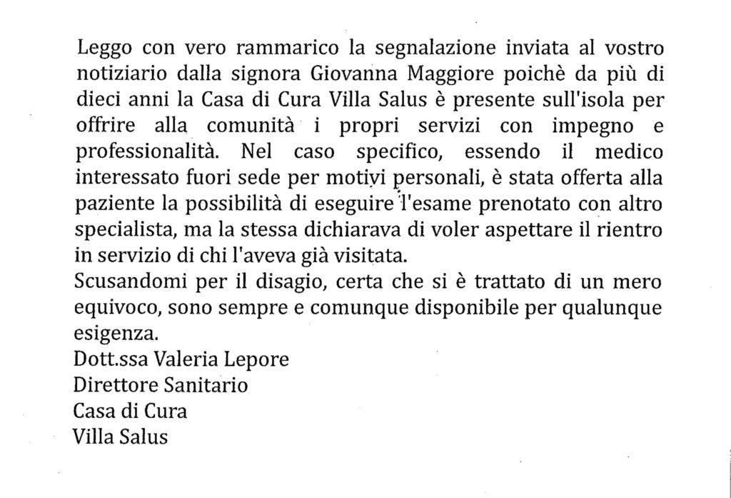 risposta villa salus