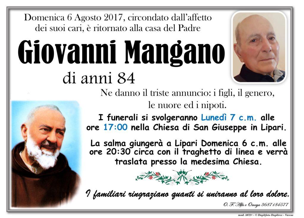 Mangano Giovanni man