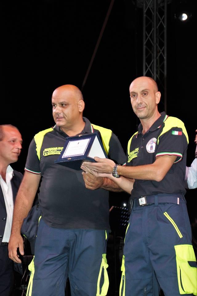 Premiato dall'organizzazione il gruppo volontari di Protezione Civile del Comune di LIpari